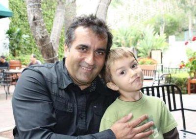 Bernard Mariette and his son