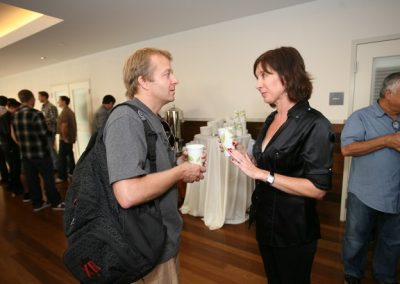 Black Box Distribution CEO Frank Messman with Shop-eat-surf.com founder Tiffany Montgomery.