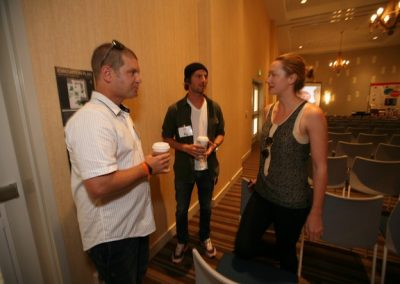 Skullcandy's Mike Carter and Dan Levine with Nicole Castrogiovanni