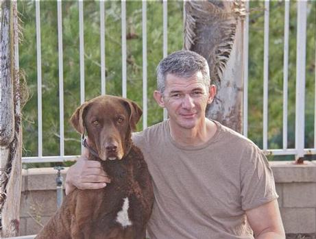 Vans President Kevin Bailey with his dog