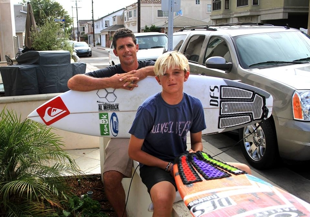 Big wave rider Peter Mel and his son John are DFS supporters.