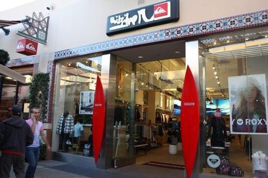 Quiksilver store at Irvine Spectrum. Shop-eat-surf file photo