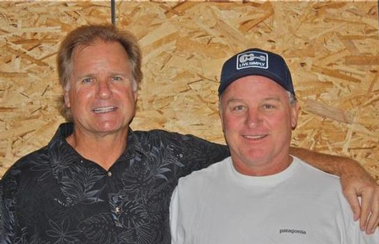 Hobie Surf Shop partners Mark Christy and Jake Schwaner at the new Dana Point store.