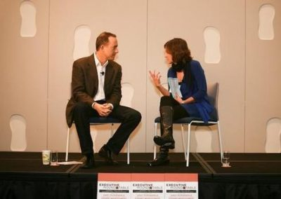 PacSun CEO Gary Schoenfeld with ShopEatSurf Founder Tiffany Montgomery at the Dec. 8