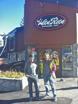 Tim Gallagher and Steve Klassen of Wave Rave in Mammoth Lakes