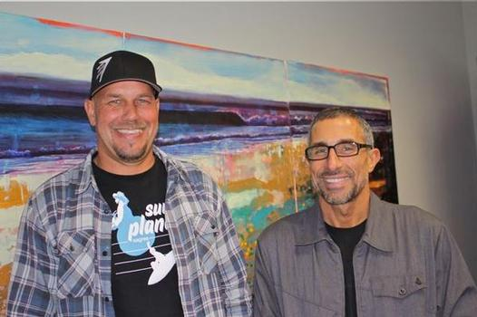 Firewire Surfboards National Sales Manager Mike Milliken and Global CEO Mark Price. Photo by Shop-eat-surf.