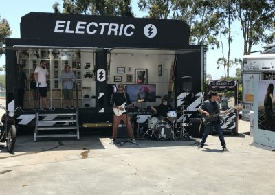 Electric had its trailer set up near the food trucks and had a band play at lunch
