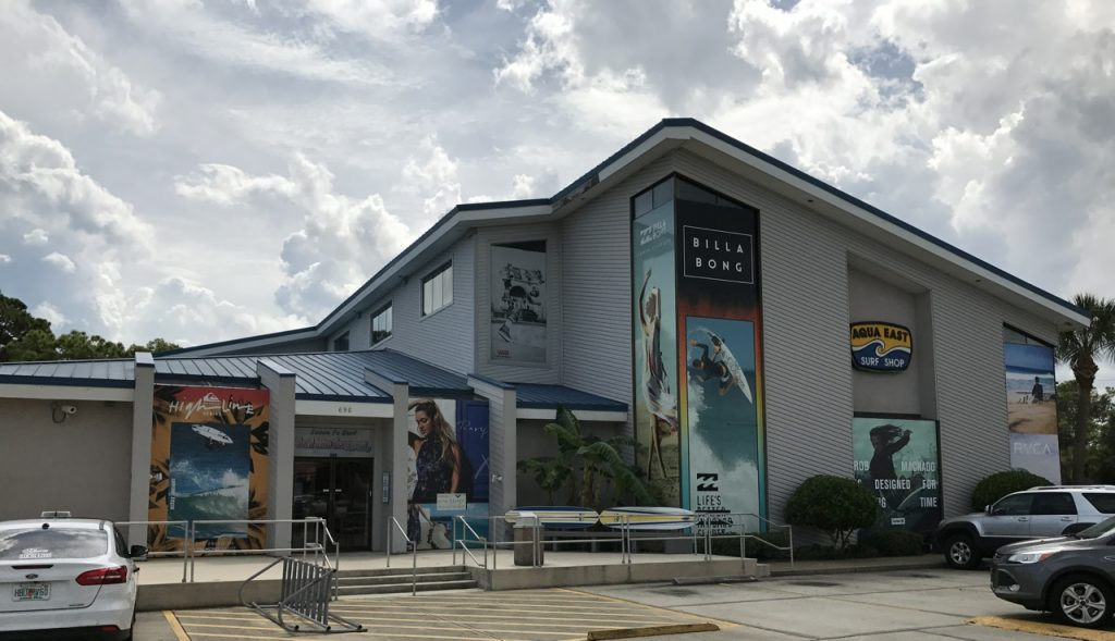 Aqua East's flagship store in Jacksonville is 20