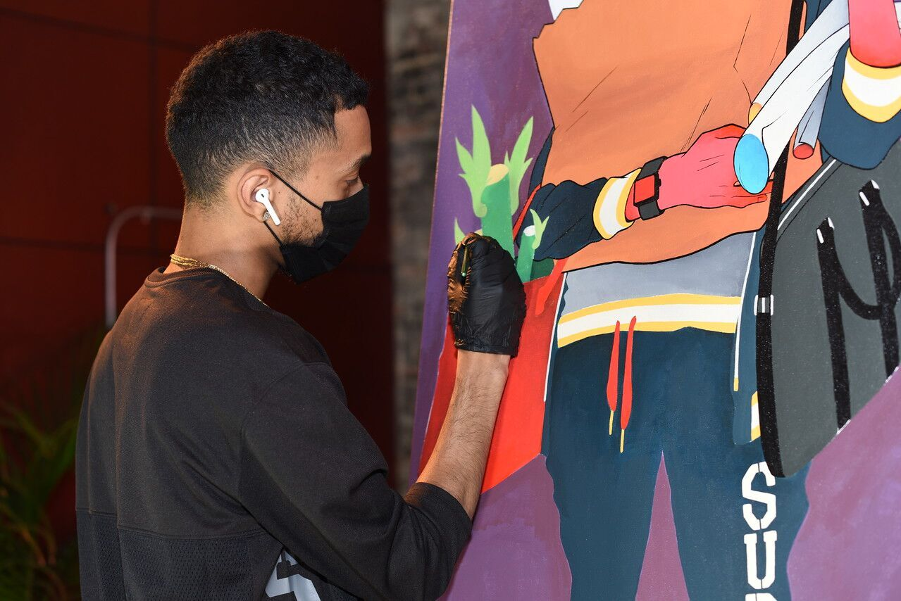 Artist McFlyy At Work