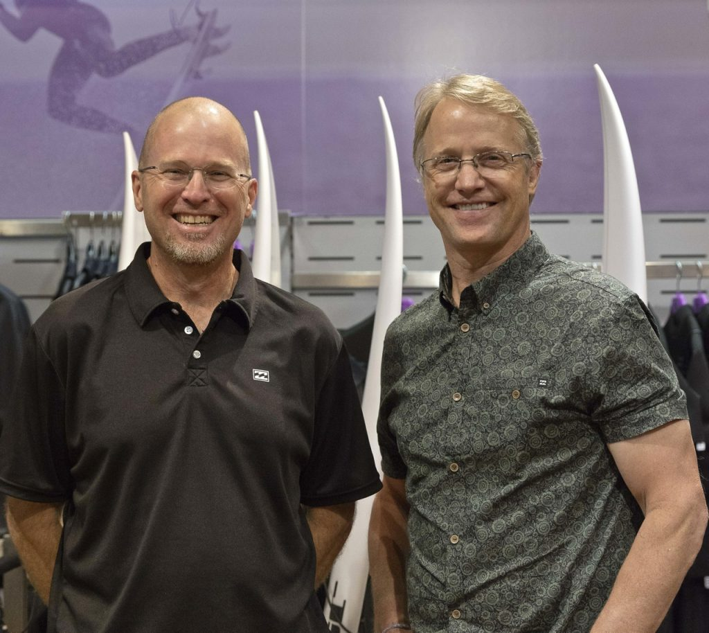 Billabong CFO Jim Howell and CEO Neil Fiske - Photo courtesy of Billabong