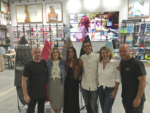 The Billabong executive team in the concept shop - Photo by SES