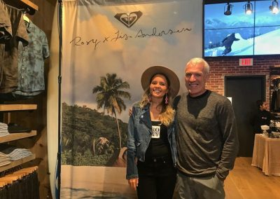 Roxy surfer Bruna Schmitz and Quiksilver Americas President Greg Healy - Photo by SES