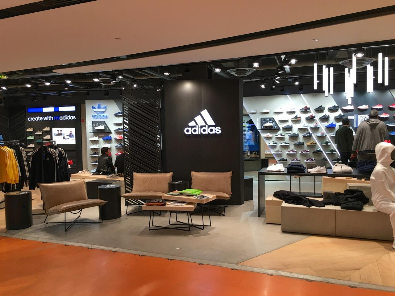 The Adidas section at Citadium in Paris - SES file photo