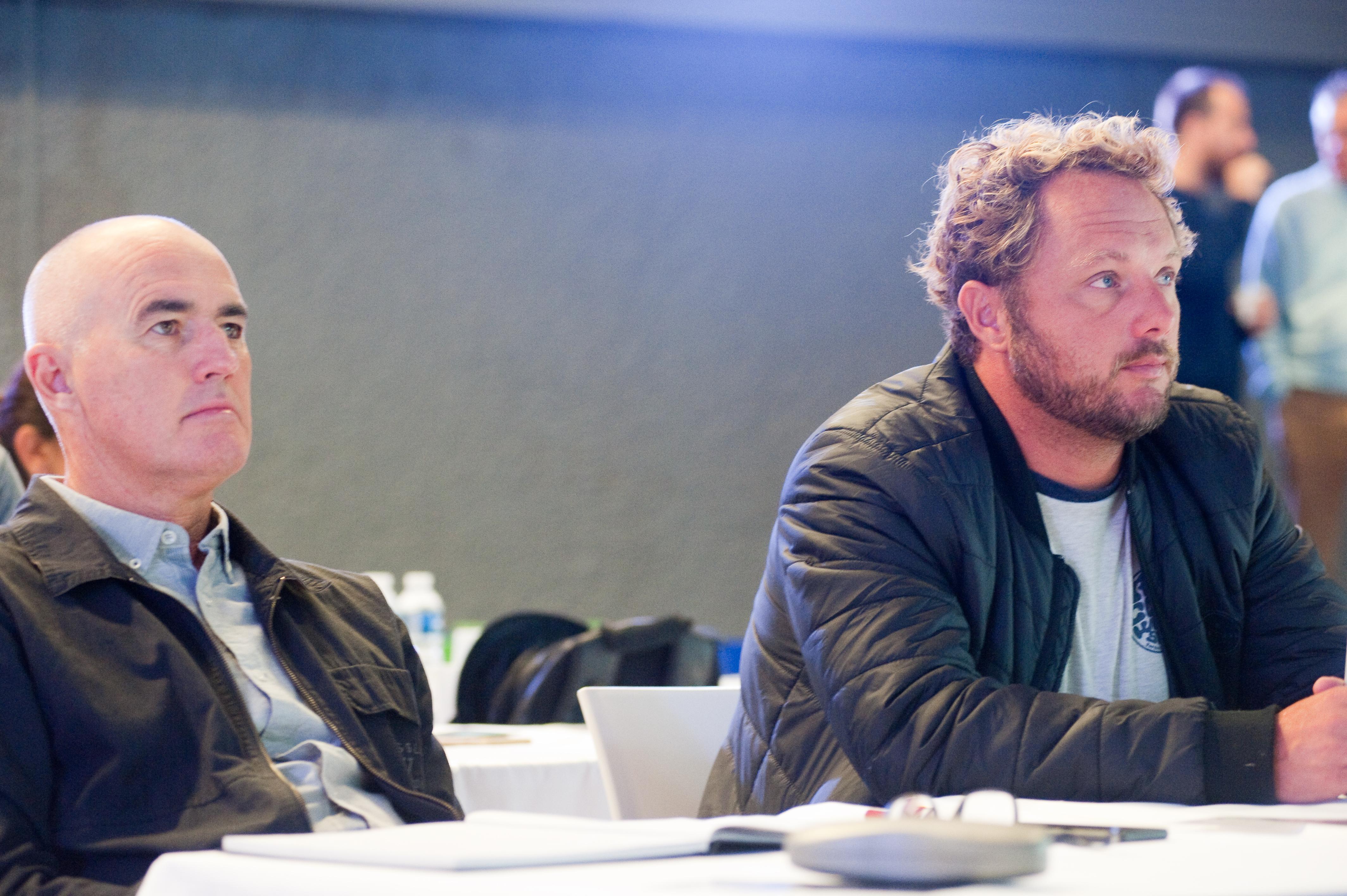 Derek Oäó»Neill (Vissla General Manager) and Wilco Prins (Rip Curl Europe General Manager and EuroSIMA President) - Photos courtesy of EuroSIMA