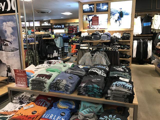 Hurley T's at Macy's Ala Moana - they are neatly folded