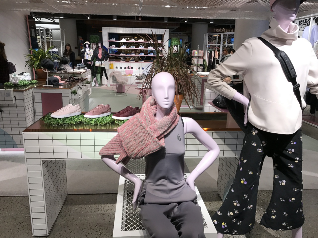 The Nordstrom x Nike shop-in-shop for women at Nordstrom Seattle has prime  real estate in the store 302da1ecd