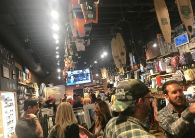 The party at the Quiksilver store in Laguna Beach - Photo by SES