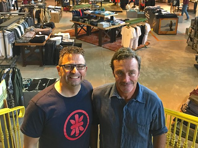 David Tanner of Oaktree and Pierre Agnes of Quiksilver at Quiksilver's European headquarters in St. Jean-de-Luz