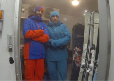 Salomon cold chamber apparel testing. Photo Courtesy Amer Sports.
