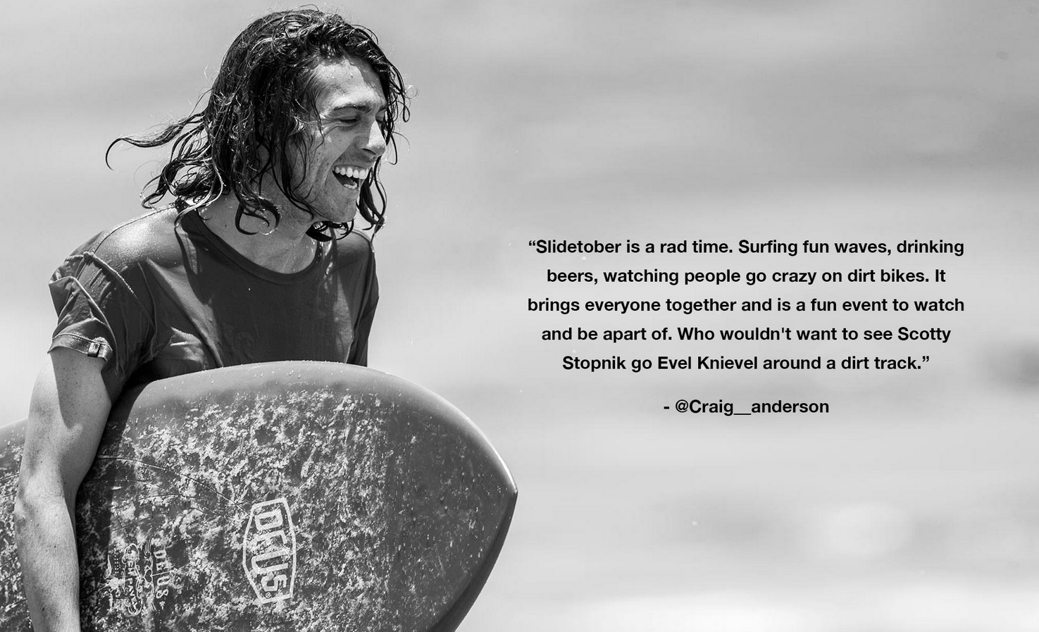Craig Anderson Slidefest testimonial. Courtesy Electric.