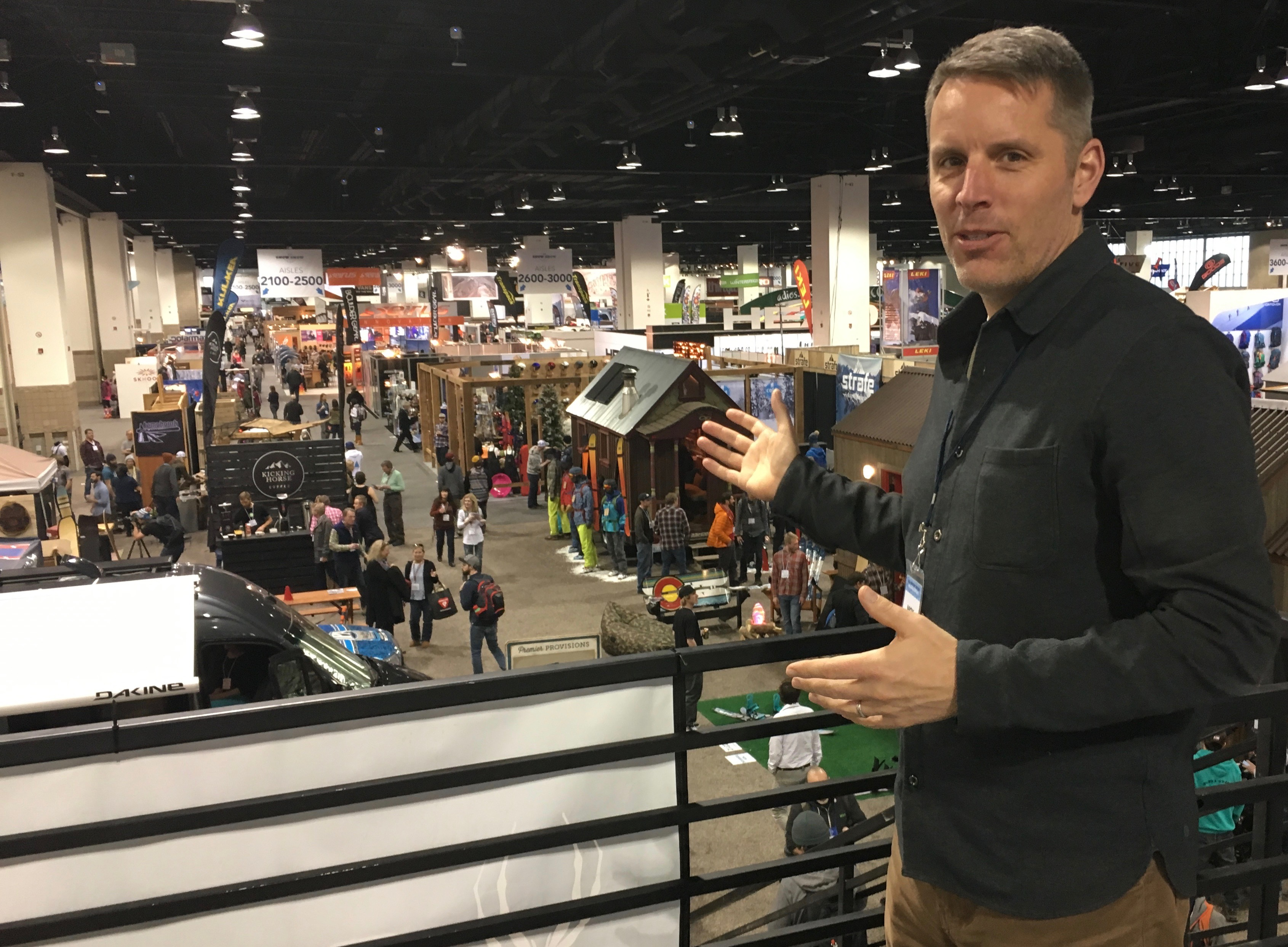 SIA President Nick Sargent at the January 2017 Snow Show. Shop-eat-surf file photo.