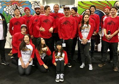 The Volcom team.