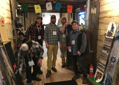 Inside the Weston Snowboards tiny house that replaces their bricks and mortar Vail Valley store and doubles as a rolling showroom.