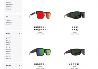 A new product page on the new website. Photo courtesy of SPY.
