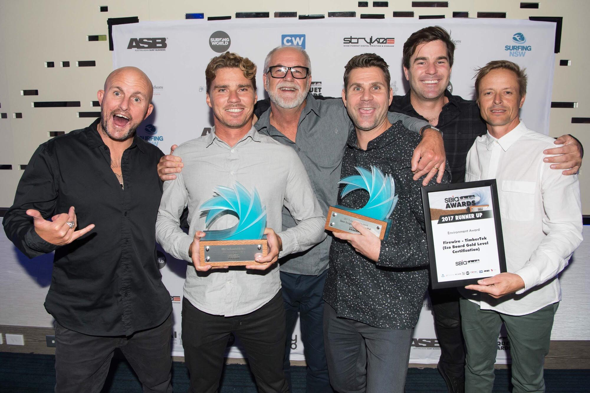 Daniel Tomo Thompson and the Firewire guys. Surfboard of the year - Slater Designs SciFi