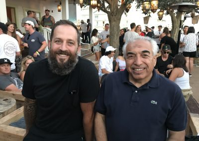 Dave Tichiaz of Vans and Bobby Abdel of Jack's