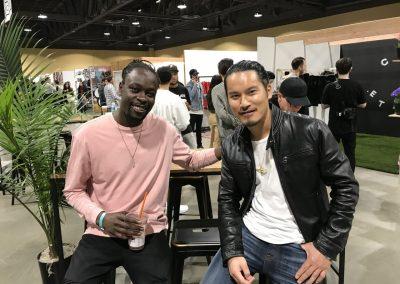 Daniel Kasidi of Rastaclat and Cuong Diep of King Ice
