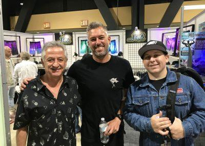 Joel Cooper and Kyle McCarthy of Lost with Joe Edukas of Surfside