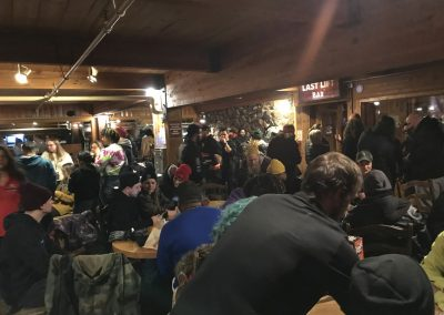 Zumiez took over the mountain house at Keystone for the employee welcome party.