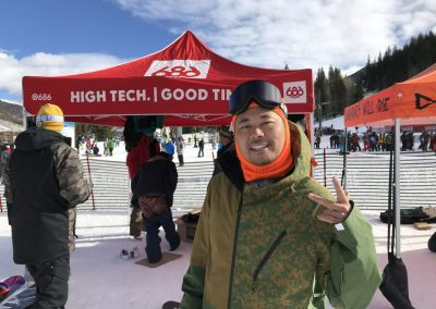 Mike West of 686 at the snow demo