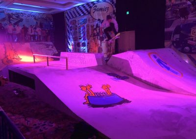 DC sponsored a skate ramp at the party