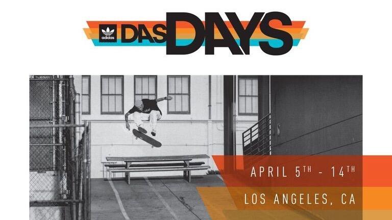 adidas Skateboarding Announces DAS DAYS