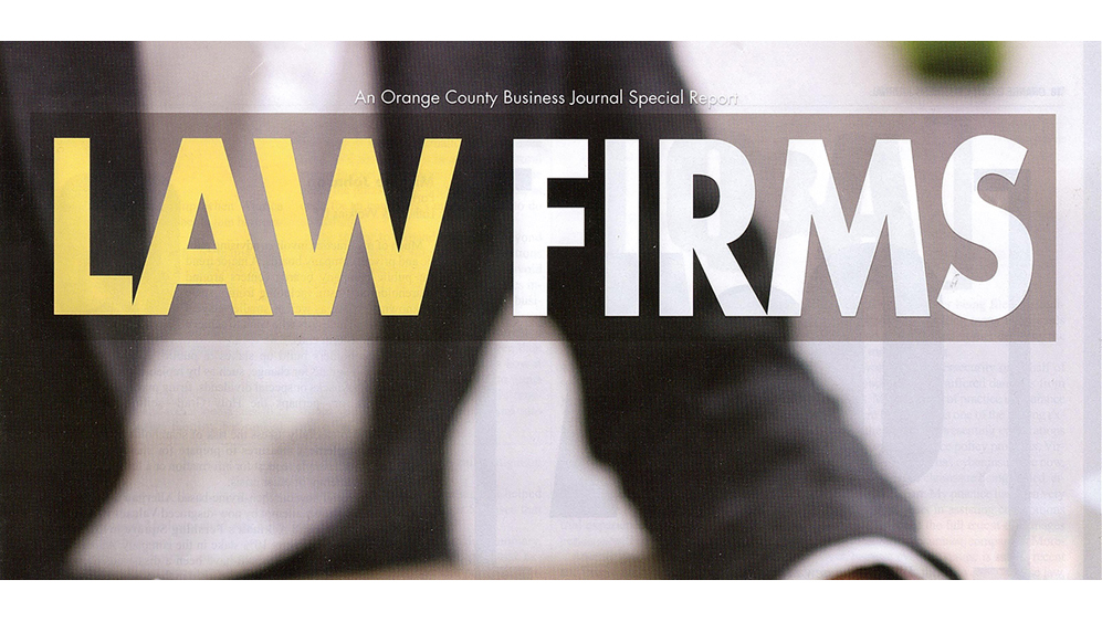 "Friedman Stroffe & Gerard P.C. Selected as a ""Top Orange County Law Firm"""