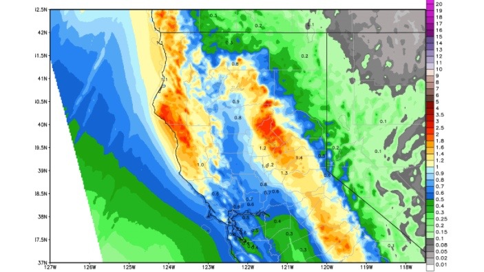 Storms to Bring Snow to California Mountains