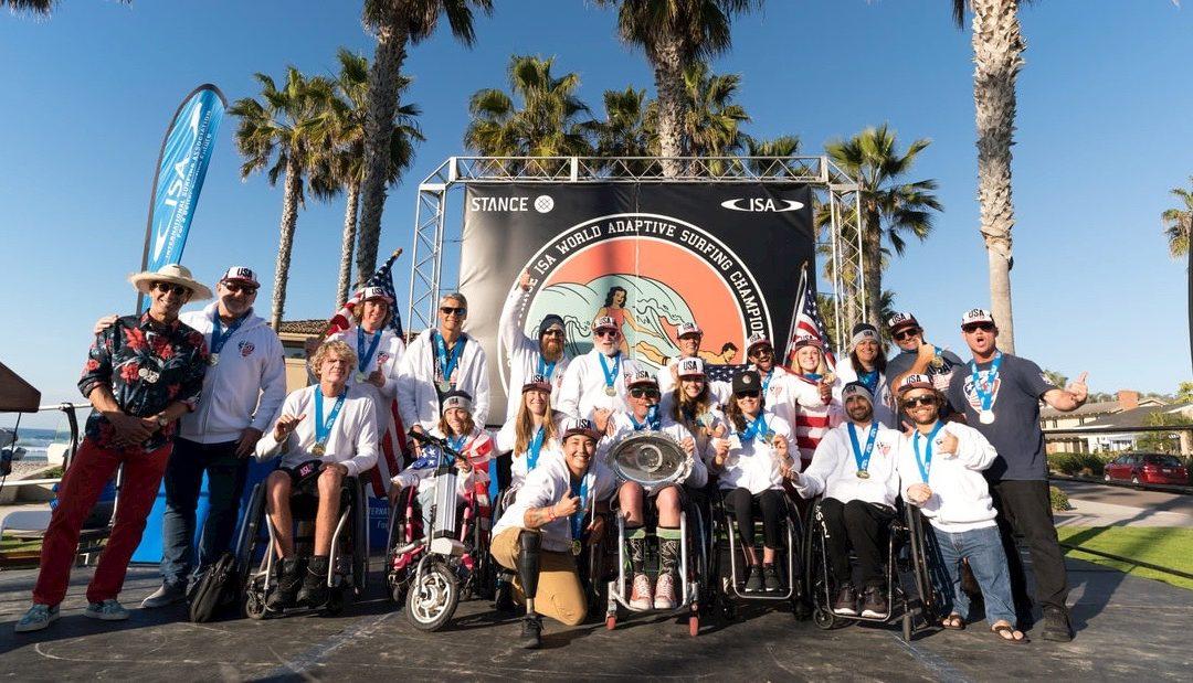 Team USA Wins Gold at ISA World Adaptive Championships