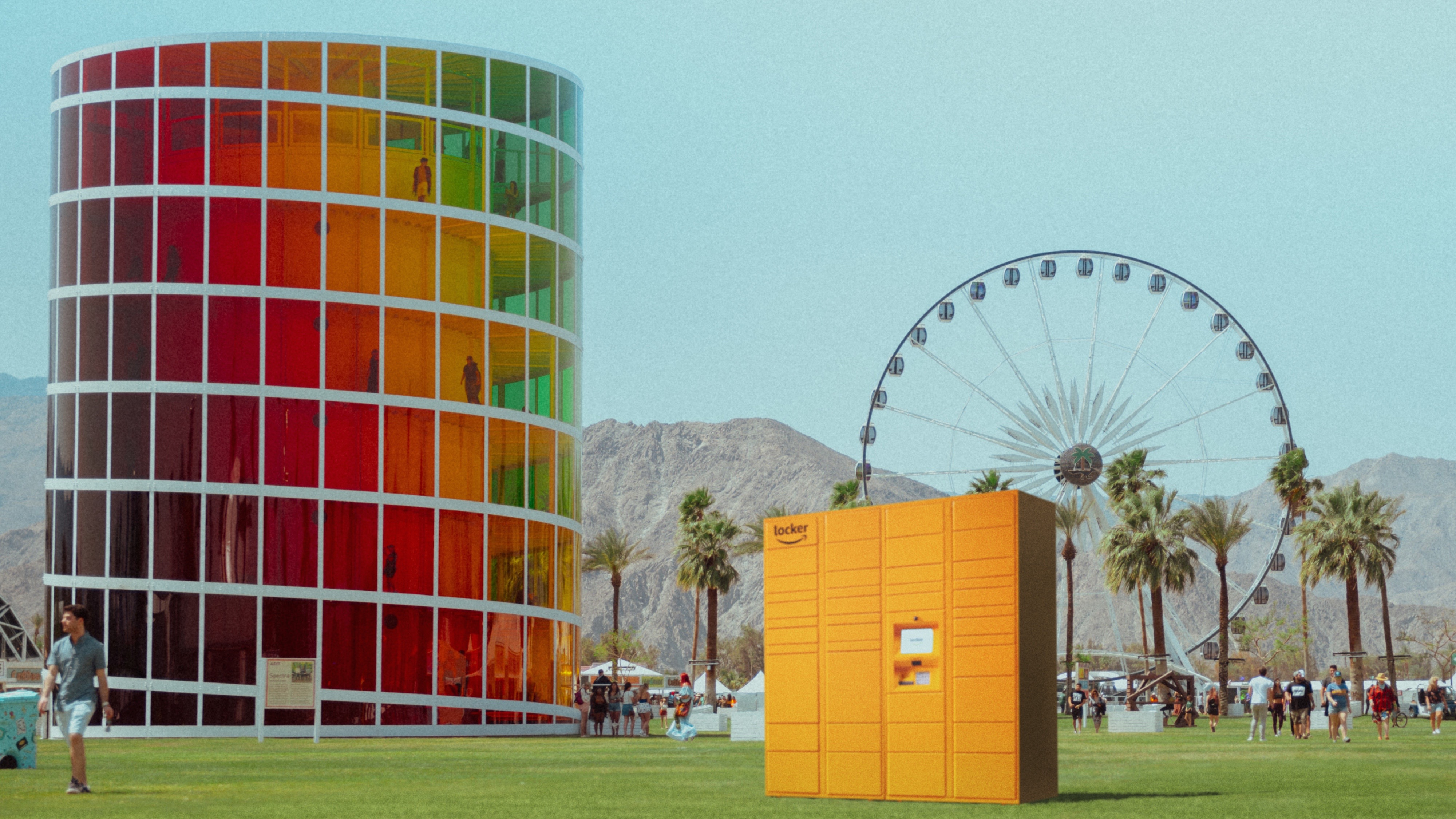 Amazon Lockers at Coachella 1