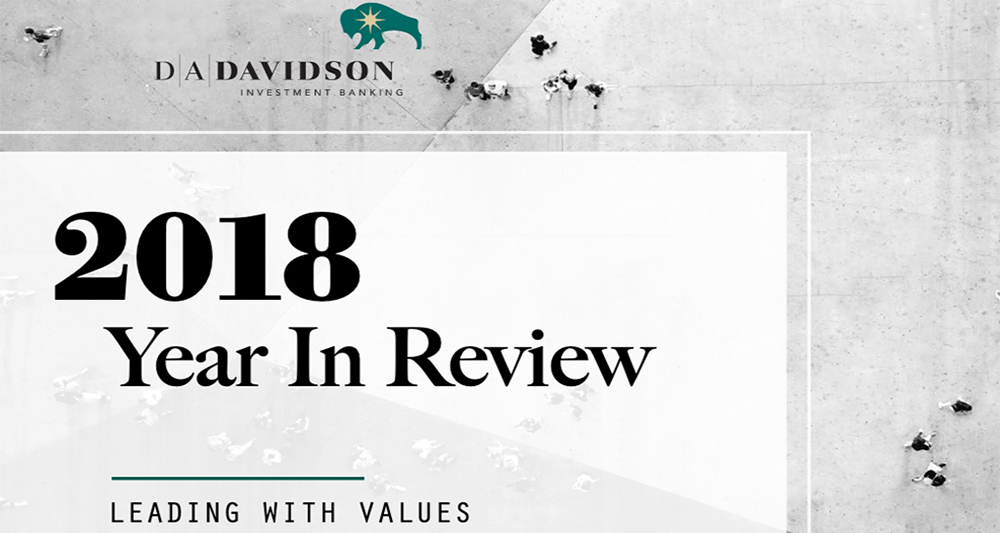 D.A. Davidson & Co. Consumer Investment Banking 2018 Year in Review