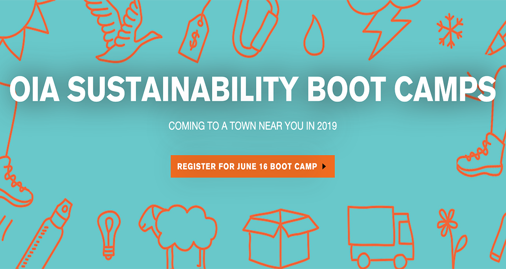 OIA Sustainability Boot Camps: Deadline Extended