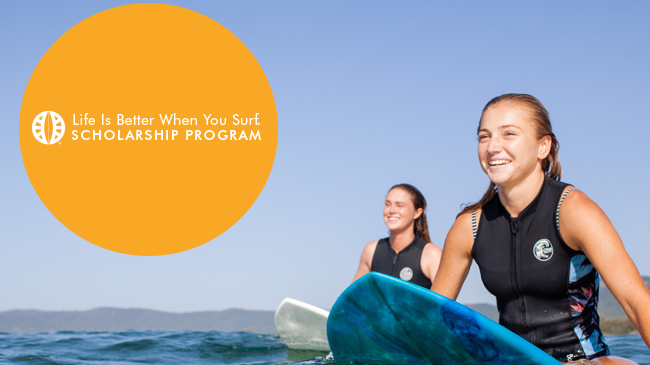 Life Is Better When You Surf Scholarship Accepting Applications Aug. 3